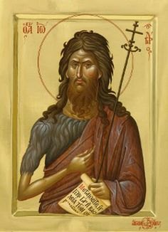 Saint John, The Holy Forerunner and Baptist of the Lord Byzantine Icons, Byzantine Art, Religious Icons, Religious Art, Orthodox Christianity, John The Baptist, Orthodox Icons, Christian Art, Saints