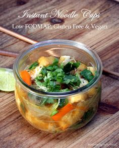 Homemade instant noodle cups - low fodmap, gluten free, vegan