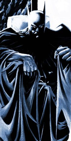 By: James Pascoe I like the use of dark's and light's to create the Dark Knight. #blackrules Comic Book Heroes, Comic Book Characters, Comic Character, Dc Heroes, Batman 2, Batman Robin, Superman, Batman Stuff, Batman Painting