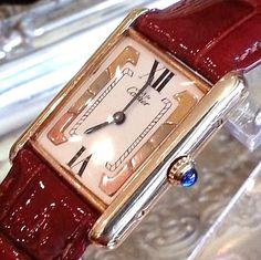Cartier must de Watch  Designer Tank  by STUNNINGCOLLECTIBLES