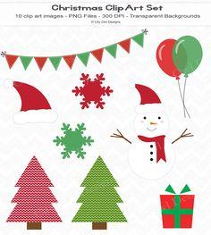 Christmas Clip Art Set for digital scrapbooking