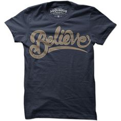 Believe Womens Tee Indigo now featured on Fab.