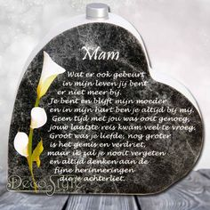 In memoriam hart met asbuisje Ik mis je Mother In Heaven, I Love My Mother, I Miss My Dad, I Miss You, Condolences Quotes, Qoutes, In Memoriam Quotes, Loosing Someone Quotes, Letter From Heaven