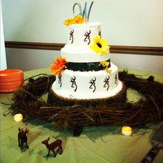 Browning Deer Wedding Cake