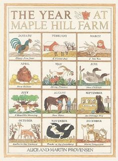 The Year At Maple Hills Farm by Alice Provenson. This a beautiful book following the seasons of the year on a farm, including little-seen details like moulting! A drawback that it is a North American farm so the animals are not all familiar to Aussie kids. Anyone know of an Aussie farm book?