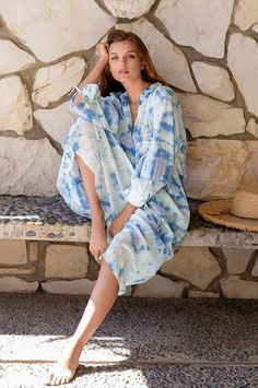My Spring, Summer, Resort Style, Johnny Was, Tie Dyed, Boho Dress, Kimono Top, Shirt Dress, Elegant