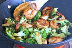 Chinese Shrimp and Broccoli Stir Fry - The Weary Chef Prawn Stir Fry, Shrimp Broccoli Stir Fry, Fried Broccoli, Shrimp And Vegetables, Shrimp And Asparagus, Garlic Shrimp, Best Shrimp Recipes, Seafood Recipes, Asian Chicken Salads