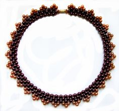 Free pattern for necklace Naomi - Beads Magic.  Easy, fast, wearable ~ Seed Bead Tutorials