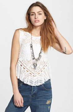 Women's Free People 'Dark Bloom' Lace Tank