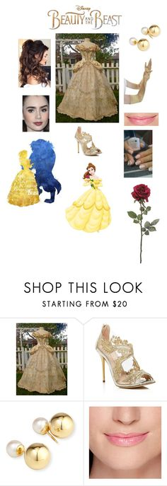 """BEAUTY AND THE BEAST🌹"" by arelyjocelyn1999 ❤ liked on Polyvore featuring Disney, Oscar de la Renta, Yoko London and BeautyandtheBeast"