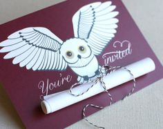 harry potter invitations owl | Playbill Graduation Announcement 10 by brightsideprints on Etsy