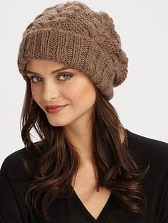 Eugenia Kim  Slouchy Knit Cap in taupe, black or charcoal