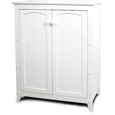 Catskill White All Purpose Kitchen Storage Cabinet With Double Doors