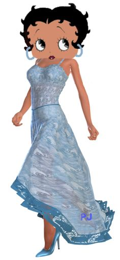 Betty Boop Blue Dress