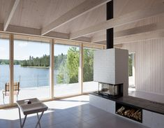 Completed in 2017 in Söderhamn, Sweden. Images by Peter Guthrie. HUS NILSSON is a summer house situated at the Norrfjärden bay in the archipelago ofnorth Sweden, on a steep slope between the forest and the sea....