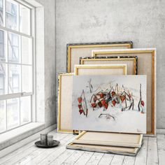 "Alexander VASIN Large Wall Art  ""Physalis. Winter"" Acrylic Painting on от artvasin"