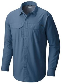 bed74ba9aa5 Columbia Sportswear Men's Silver Ridge Lite Long Sleeve Shirt (Blue Medium,  Size Small) - Men's Outdoor Apparel, Men's Longsleeve Outdoor Tops at A.