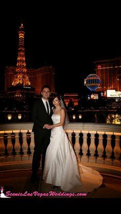 Las Vegas Strip Tour Wedding At The Bellagio Fountains With Scenic Weddings