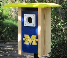 Michigan NCAA Bluebird/Songbird House