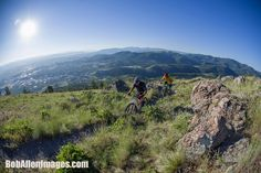 Riding on Mt. Helena. Photo: BobAllenImages.com