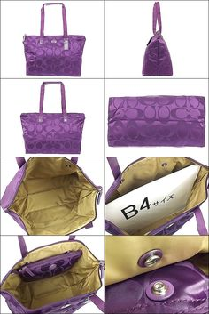 Coach packable nylon tote. Small back snaps inside large tote. Can also fold  up larger bag to fit into smaller one.