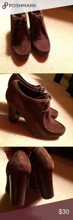 Ralph Lauren Brown Suede Lace Ankle Boots Sz 8 Excellent Condition. Sz8. Brown Suede. Heels. Ralph Lauren Shoes Ankle Boots & Booties