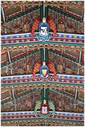 The spectacular nave painted roof St. Cuthbert's, Wells, Somerset One of my ancestral churches