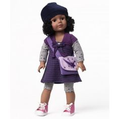 """18"""" Doll Stars and Stripes -- the hair on this doll detaches. You can also buy a wig kit for more hair options."""