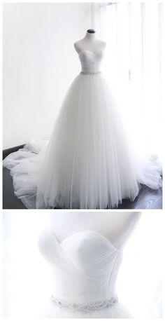 Cute Wedding Dress, Sweetheart Wedding Dress, Beautiful Prom Dresses, Long Wedding Dresses, Tulle Wedding, Bridal Dresses, Wedding Gowns, Look, Indie Brands