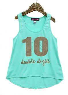 S 10 Double Digits Shirt Tenth Birthday 10th