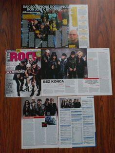 SCORPIONS - Klaus Meine Articles Clippings Magazine | eBay