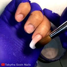This French ombre tip and coffin shaped nail is today's inspiration for you 😊 Credits: Tabytha Scott Nails Ombre French Nails, French Fade Nails, Faded Nails, New Nail Art, Cute Nail Art, Acrylic Nail Art, Gel Nagel Kit, Asia Nails, Acryl Nails