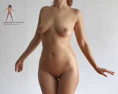 Naked female anatomy