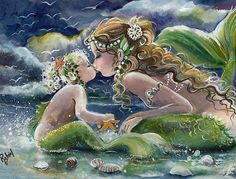 Mommy & baby mermaids