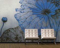 I think this could be done on a metallic plaster background. So inspired! Via Wall Murals Art.