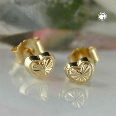 Stecker, Herz mit Muster, 9Kt GOLD accessorize24-431137