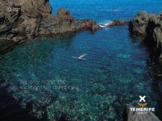 """Sólo nos arrepentimos de los viajes que no hacemos"", Tenerife, piscina natural, Islas Canarias // ""We only regret the vacations we didn't take"", natural lava pool, Canary Islands // ""Die einzige Reise, die man bereut, ist die, die man nicht macht"", Naturpool, Teneriffa, Kanarische Inseln #VisitTenerife Canary Islands, Lava, Vacations, Natural, Water, Outdoor, Swiming Pool, Viajes, Canarian Islands"