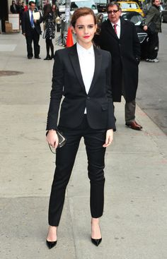 Emma Watson. Just look at how she pulls off this suit: