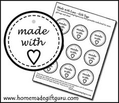 Make your own gift tags with these playful gift tag templates design your own unique free gift tags with these free printable gift tag templates perfect for a variety of easy homemade gift ideas such as recipes in a negle Images