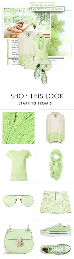 """""""summer to fall: mint"""" by lifestyle-ala-grace ❤ liked on Polyvore featuring Innisfree, Sweaty Betty, Etro, Salvatore Ferragamo, Linda Farrow, Versace, Chloé and Converse"""