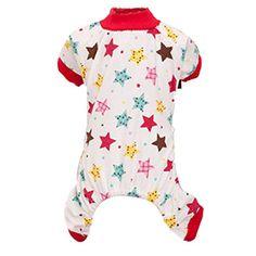 Dog Jumpsuit, HP95(TM) Pet Puppy Cotton Pajamas, Small Dog Cat Jumpsuit Coat Shirt Clothes (A, S)