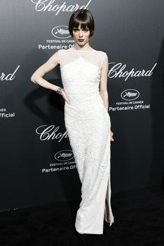 Coco Rocha at the Chopard Party in Cannes, 2014.  Stunning: a dark turn to the vamp/flapper girl.