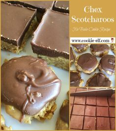 Chex Scotcharoos: ingredients, directions, and special baking tips from The Elf to make these popular no bake cookies either as bars or drop cookies. Easy No Bake Cookies, Drop Cookies, No Bake Treats, No Bake Desserts, Dessert Recipes, Drops Recipe, Rice Krispy Treats Recipe, Cookie Bars, Christmas Baking