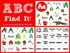 ABC Find It Letter A