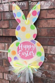 Easter Door Hanger, Easter Bunny Door Hanger, Easter Wreath, Easter Bunny Wreath, Spring Door Hanger, Easter Decor, Spring Wreath #Affiliate
