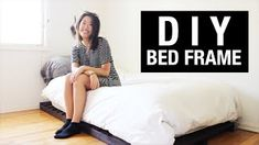 DIY: Twin Bed Frame on a College Student's Budget – Hazir Site College Student Budget, College Students, Diy Twin Bed Frame, Diy Frame, College Loft Beds, Pallet Bed Frames, Health Class, Bed Dimensions, Room Tour