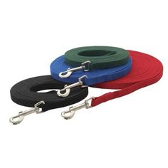 """$8.82-$17.99 Guardian Gear Cotton Web Training Lead 20 Ft Black - Anyone who handles dogs depends on sturdy leads. Our heavy duty, 5/8"""" wide, 100% cotton web leads are strong enough to control even large dogs. Swivel-style bolt snap resists twisting. Cotton Web Training Leads are available in the colors and sizes listed below. http://www.amazon.com/dp/B000A7UZA8/?tag=pin2pet-20"""