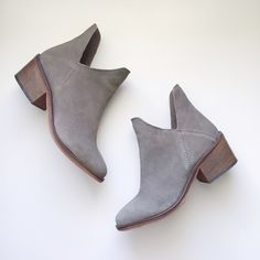 """Zara Cut out gray booties These are the cutest! Got lots of compliments on them! Can fit size 6-6.5! In perfect condition!  Please use """"offer"""" button to make any offers. TRADES WILL BE IGNORED. Zara Shoes Ankle Boots & Booties"""