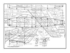 MiG-15 - plan thumbnail Sheet Metal Shop, Airplane News, Rc Model, Model Airplanes, Paper Models, Cutaway, Plans, Scale Models, Fighter Jets