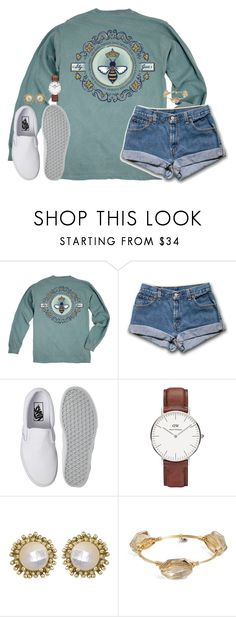 """I wish we could turn back time to the good ol' days"" by kaley-ii ❤ liked on Polyvore featuring Queen Bee, Vans, Daniel Wellington, Kendra Scott and Bourbon and Boweties"